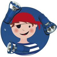 Blue ceiling light Pirate with 3 bulbs