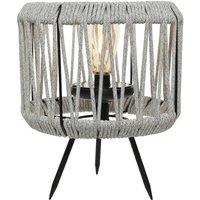 897596 LED solar table lamp light grey