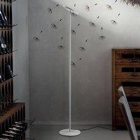 Joshua LED floor lamp in white