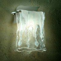 Aluminium glass MURANO wall light
