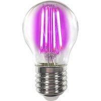 Coloured E27 4 W LED bulb filament  magenta