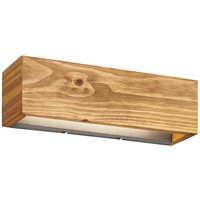 Brad LED wall light  wood  up down  37 x 11 cm