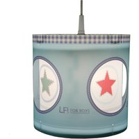 Lief for Boys rotating pendant light in blue