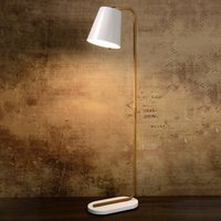 Cona floor lamp with white metal shade