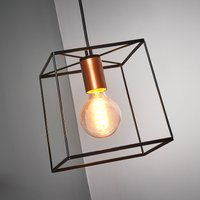 Agatha   hanging light with a metal frame