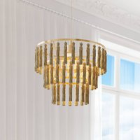 By Ryd ns Chloe hanging light with fabric tassels
