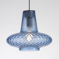 Extraordinary glass pendant lamp Giulietta  blue