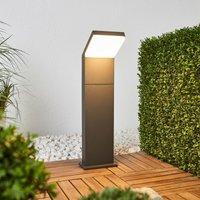 Grafitgraue LED-Wegelampe Yolena, 60 cm