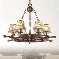 Impressive Porto chandelier six bulb