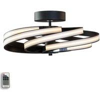 Zoya   modern LED ceiling light  black