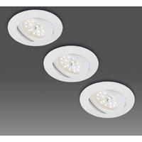 Pivotable LED recessed light  set of three  white
