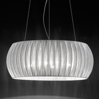 Amaru hanging light with fabric lampshade 55 cm