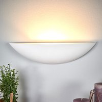 Shell shaped plaster wall lamp Guilia