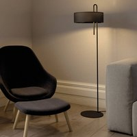 Clip fabric floor lamp  black  height 150 cm
