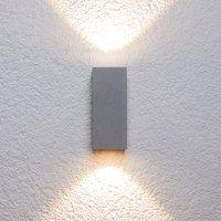 Silberne Außenwandleuchte Tavi m. Bridgelux LED