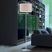 Morfeo floor lamp  fabric lampshade  cream