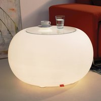 Table BUBBLE Indoor LED white light   glass panel