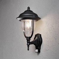 Parma outdoor wall lamp with sensor  black