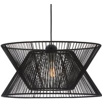 Argela hanging light with dual lampshade  black