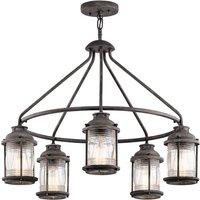 Ashland Bay hanging lamp in weathered zinc look