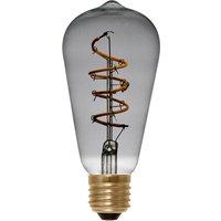 E27 4 W 922 LED rustic bulb Curved Line smoky grey