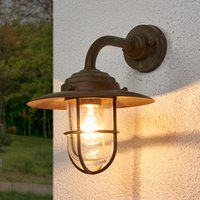Stylish outdoor wall light Antique  clear glass