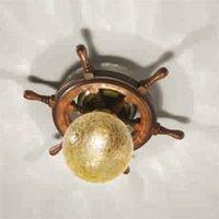 Timone ceiling light  spherical glass amber
