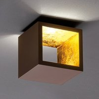 Cube shaped LED ceiling light Cub   brown  gold