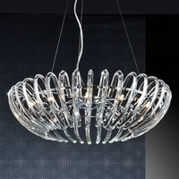Crystal hanging light Ariadna in clear look  66 cm