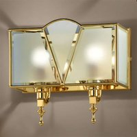 Classic two bulb wall light  gold