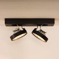 Two bulb Nenad LED ceiling spotlight  grey