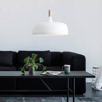 Hanging light Acorn made of aluminium in white