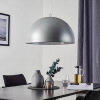 Aluminium coloured hanging light CUPOLA  54 cm