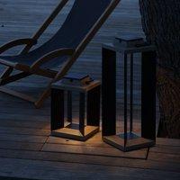 Teckalu solar lantern  Duratek black  36 5 cm