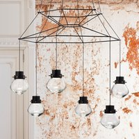Exceptional LED hanging lamp Heart six bulb