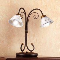 2 bulb LIBERTY table lamp