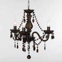 Black Perdita chandelier  three light