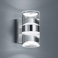 Applique LED bagno emissione sopra e sotto Ria