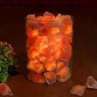 Salt crystal fire in glass