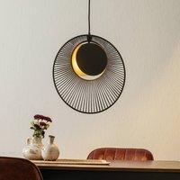 Forestier Oyster designer hanging light  black
