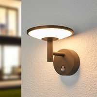 LED outdoor wall light Fenia with motion detector