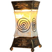 Bright Xenia table lamp with spiral motif