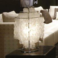 VERPAN Fun 2TM mother of pearl table lamp  chrome