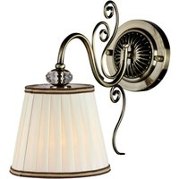 Vintage wall light with a fabric lampshade