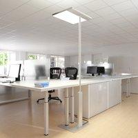 Image of Büro-Stehlampe Linea-F mit Sensor grau