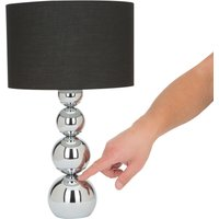 Mandy table lamp  touch function  black