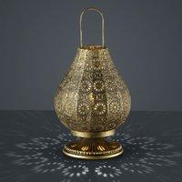 Jasmin table lamp  oriental design  antique brass