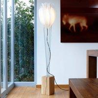 Decorative floor lamp Tulip  natural oak