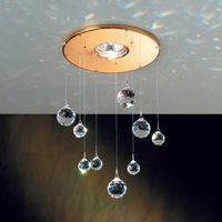 Feng Shui downlight with Swarovski elements  gold