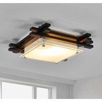 EDISON Wooden Ceiling Lamp  Dark